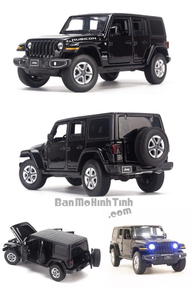 Mô hình xe Jeep Wrangler Sahara 1:32 Jackiekim Black
