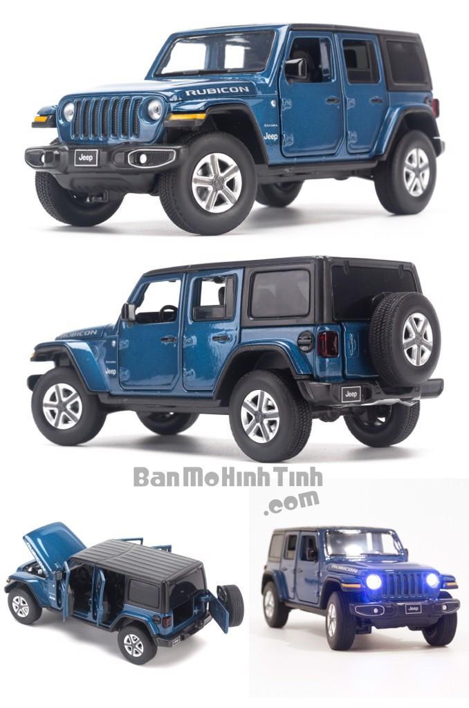 Mô hình xe Jeep Wrangler Sahara 1:32 Jackiekim Blue