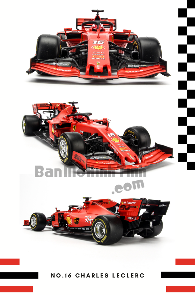 mô hình xe đua F1 Ferrari 2019 SF71 1:18 bburago