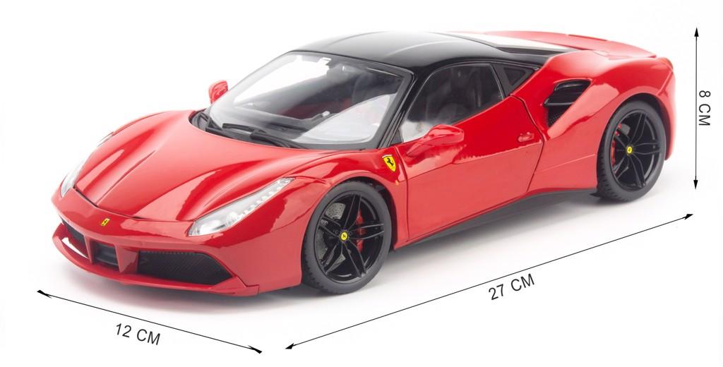 Mô hình xe Ferrari 488 GTB 1:18 Bburago Signature Red