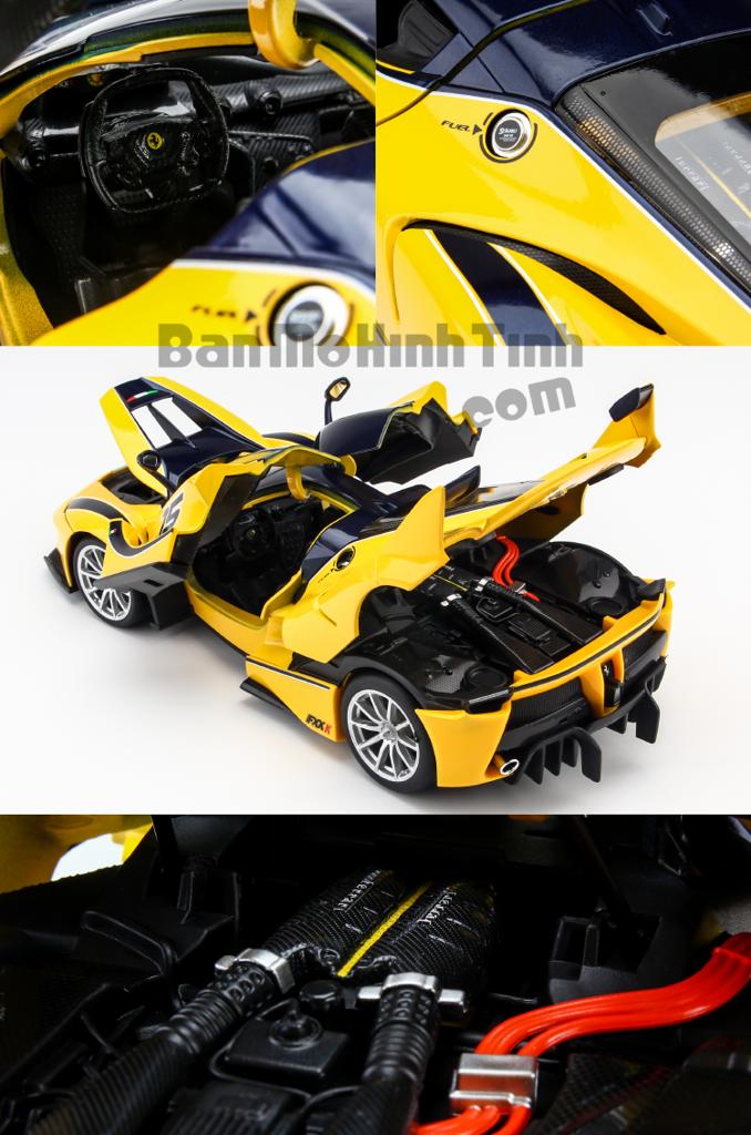 Mô hình xe Ferrari FXX K Yellow 1:18 Bburago