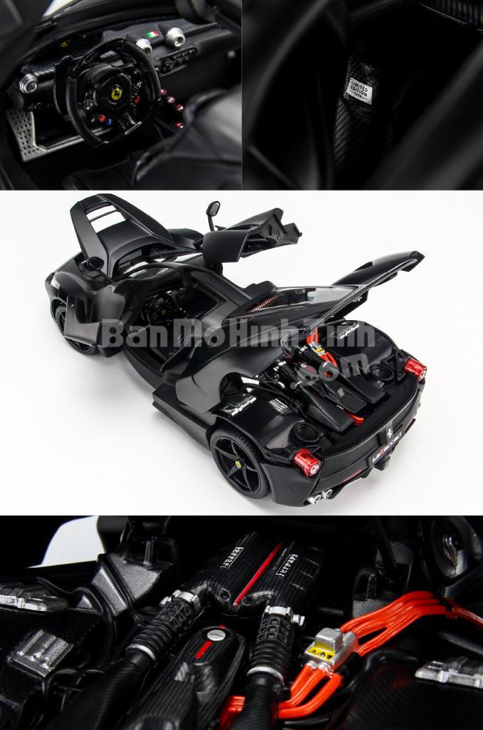 Mô hình xe Ferrari Laferrari Signature Matte Black 1:18 Bburago