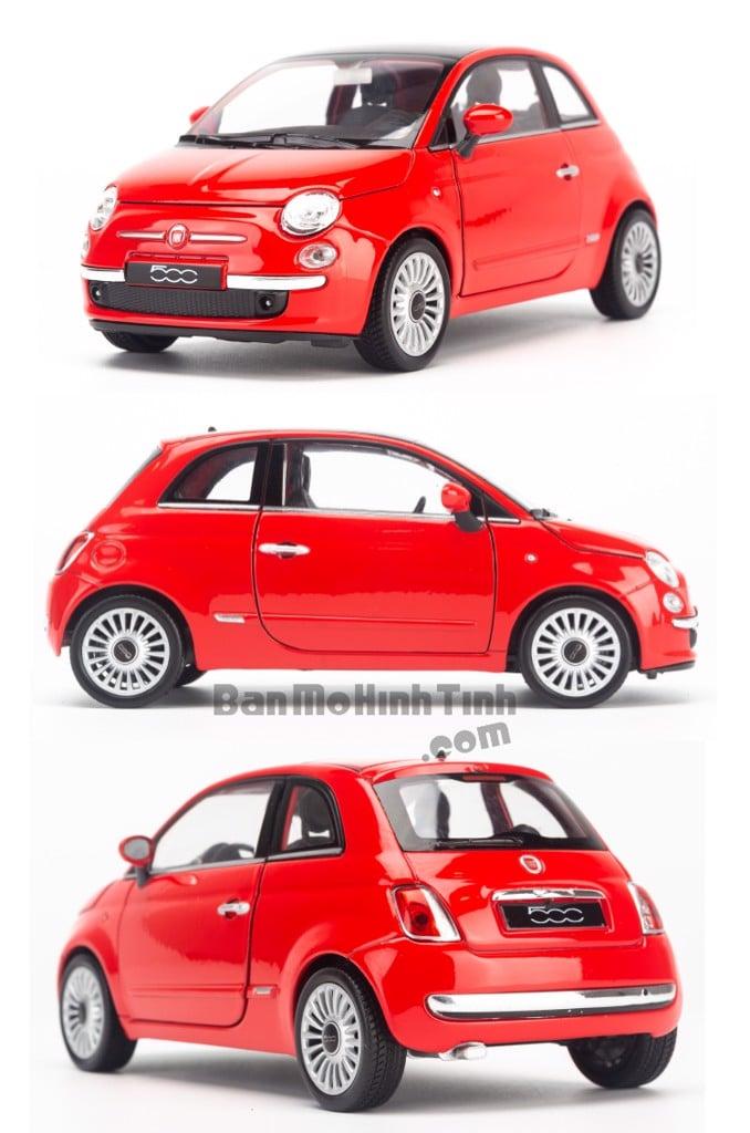 Mô hình xe Fiat 500 2007 1:24 Welly