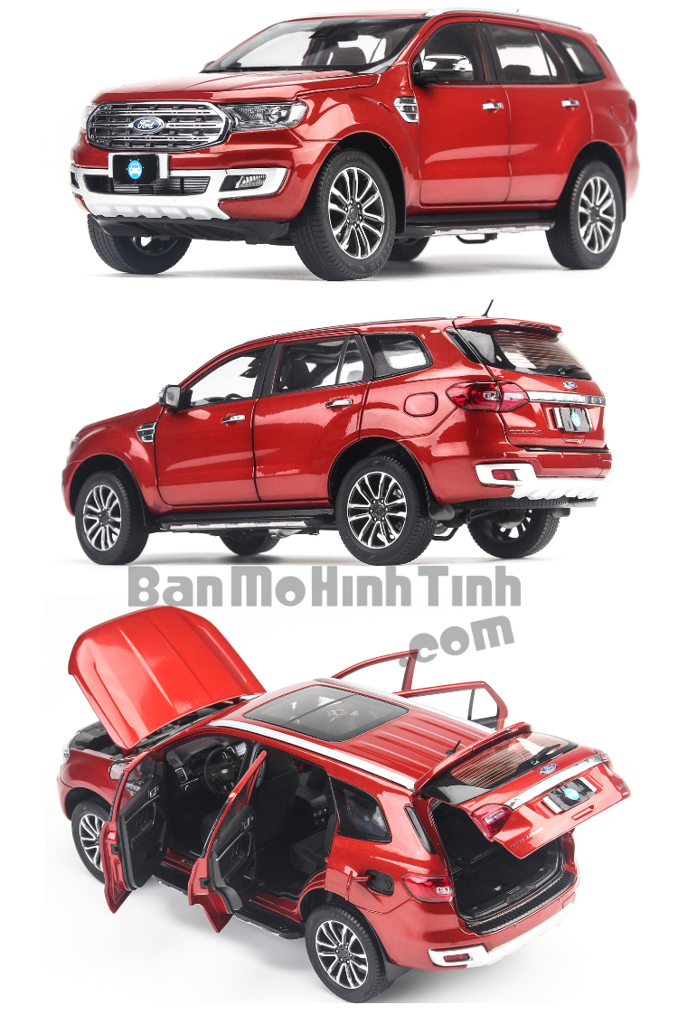 Mô hình xe Ford Everest Titanium 2020 Red 1:18 Dealer