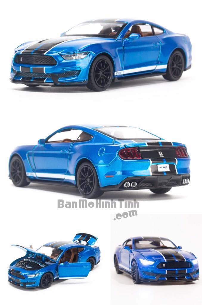 Mô hình xe Ford Shelby Cobra GT350 2018 1:32 UNI Blue