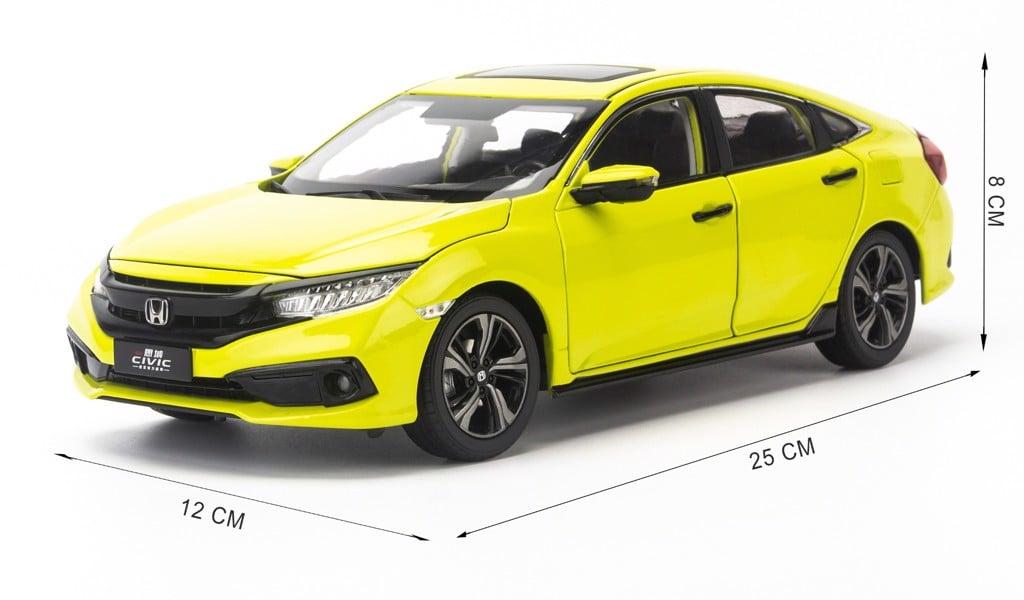 Mô hình xe Honda Civic 2019 1:18 Paudi Light Green