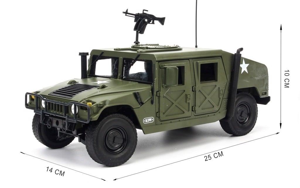 Mô hình xe quân sự Hummer Humvee Battlefield Vehicle Military 1:18 KDW