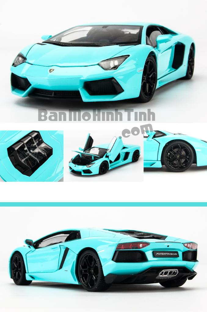 Mô hình xe Lamborghini Aventador LP700-4 Baby Blue 1:24 Welly