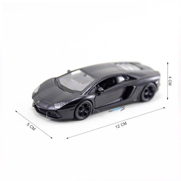 Mô hình xe Lamborghini Aventador LP700-4 Matte Black 1:36 Welly