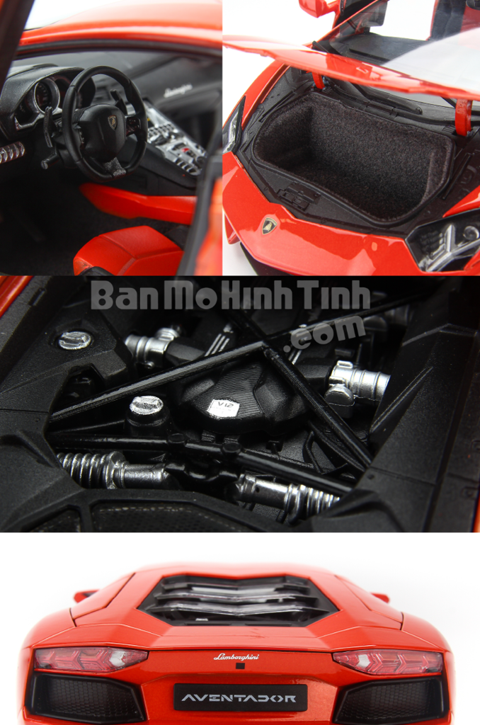 Mô hình xe Lamborghini Aventador LP700-4 Orange 1:18 Welly-FX