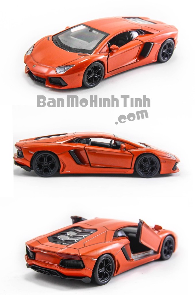 Mô hình xe Lamborghini Aventador LP700-4 Black 1:36 Welly