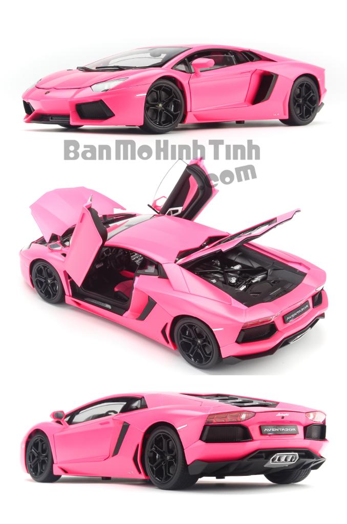 Mô hình xe Lamborghini Aventador LP700-4 Pink 1:18 Welly-FX