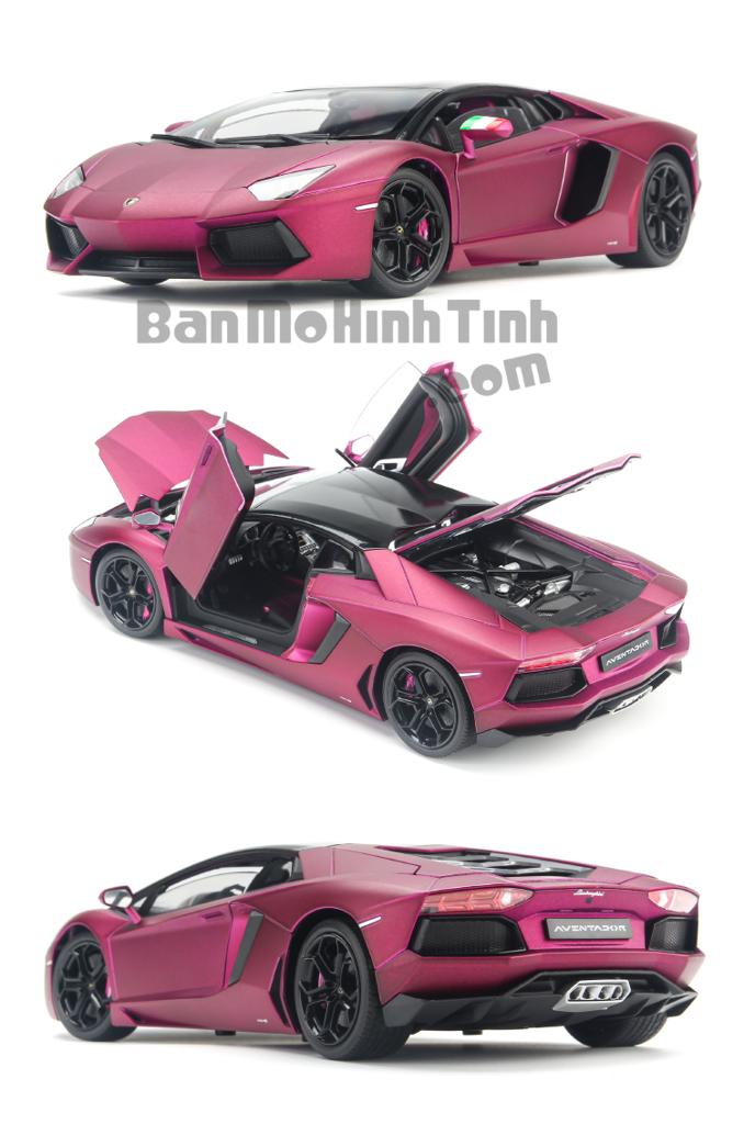 Mô hình xe Lamborghini Aventador LP700-4 Purple 1:18 Welly-FX