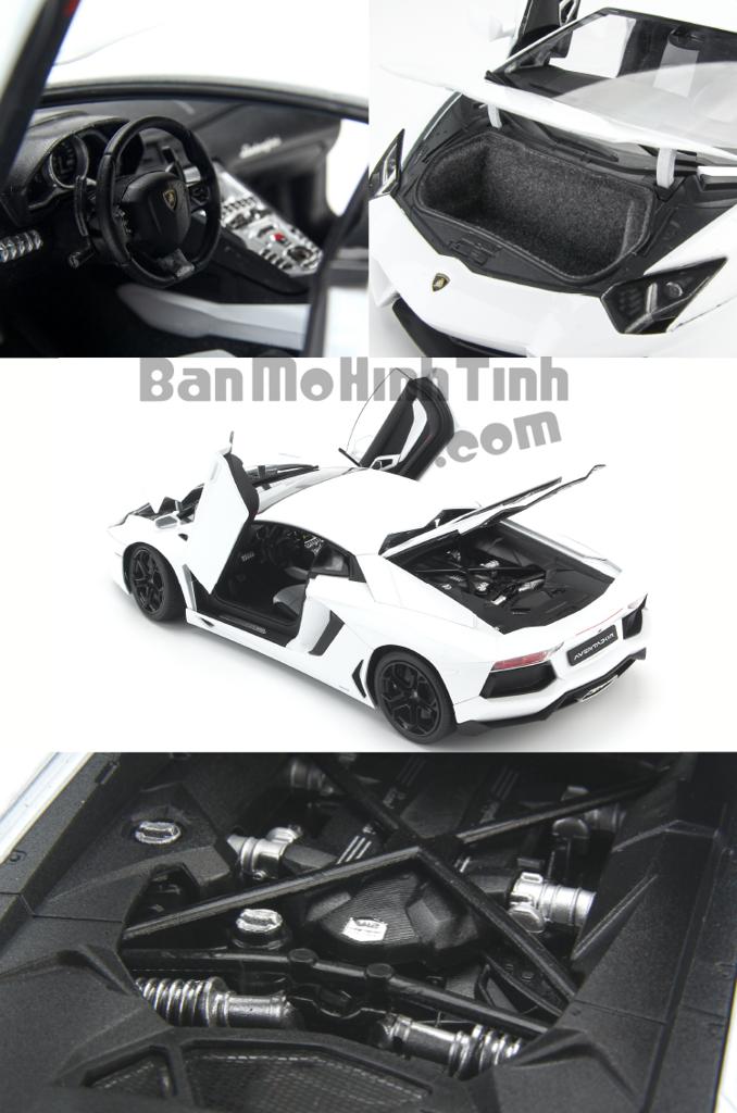 Mô hình xe Lamborghini Aventador LP700-4 White 1:18 Welly-FX