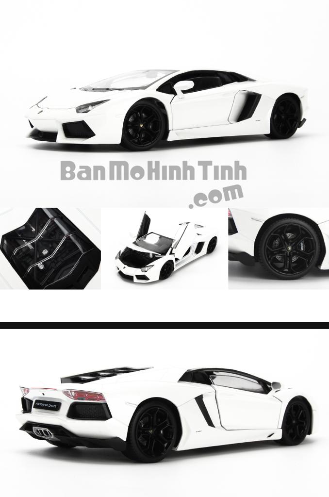 Mô hình xe Lamborghini Aventador LP700-4 White 1:24 Welly