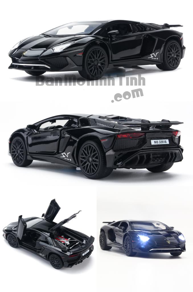 Mô hình xe Lamborghini Aventador LP750-4 SV Black 1:32 Miniauto