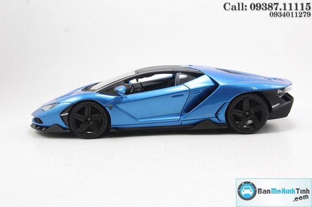 Mô hình xe Lamborghini Centenario LP770-4 Blue 1:18 Maisto