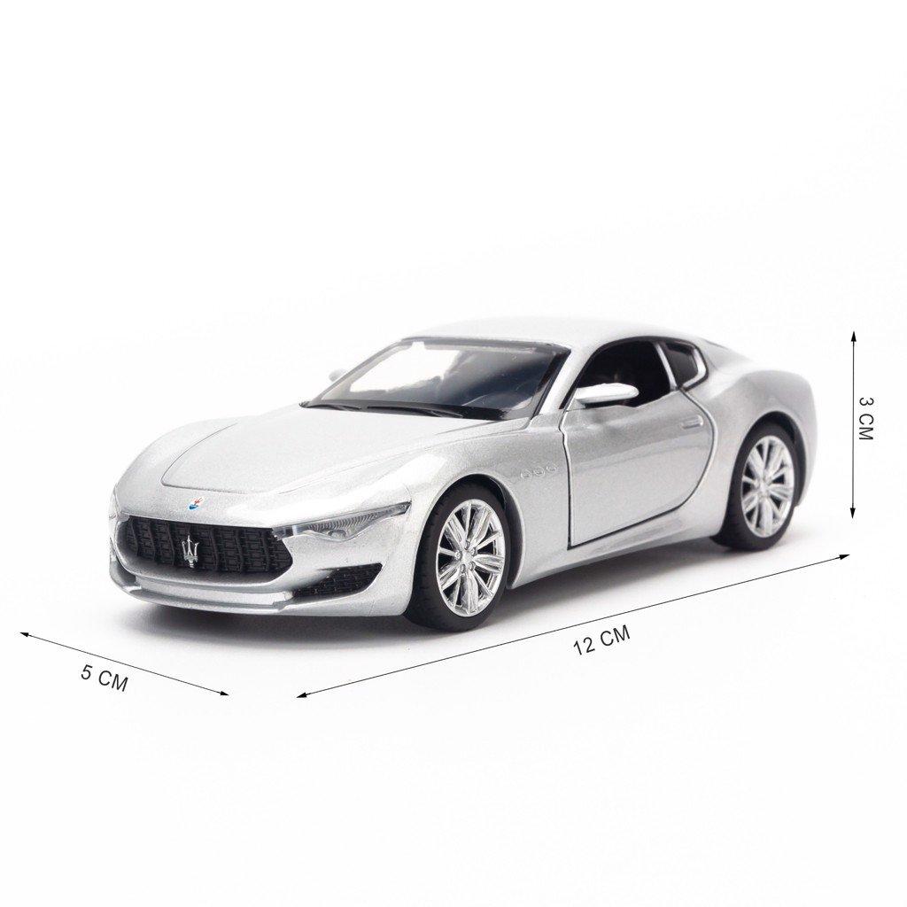 Mô hình xe Maserati GT Alfieri 1:36 Jackiekim Silver