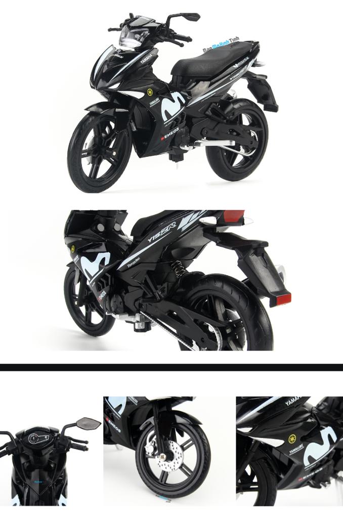 Mô hình xe máy Yamaha Exciter Y15ZR Movistar Black 1:12 Dealer giá rẻ nhất việt nam