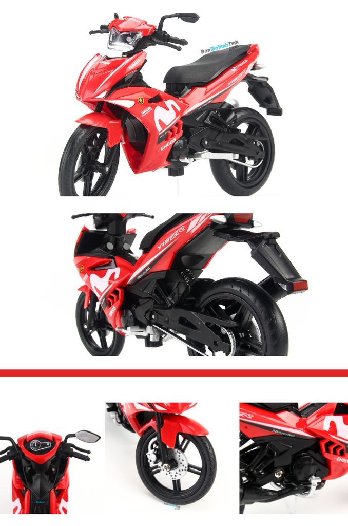 Mô hình xe máy Yamaha Exciter Y15ZR Movistar Red 1:12 Dealer giá rẻ nhất việt nam