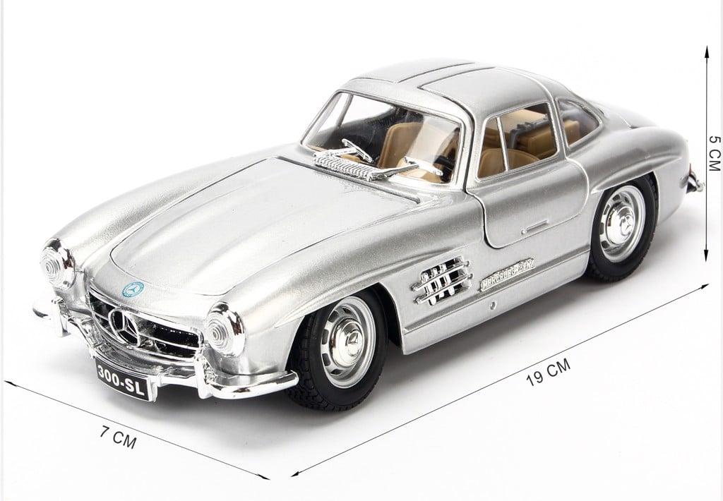 Mô hình xe Mercedes-Benz 300SL 1954 1:24 Bburago Silver