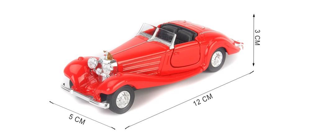 Mô hình xe Mercedes-Benz 500K Type Convertible Red 1:36 Welly- 98879C