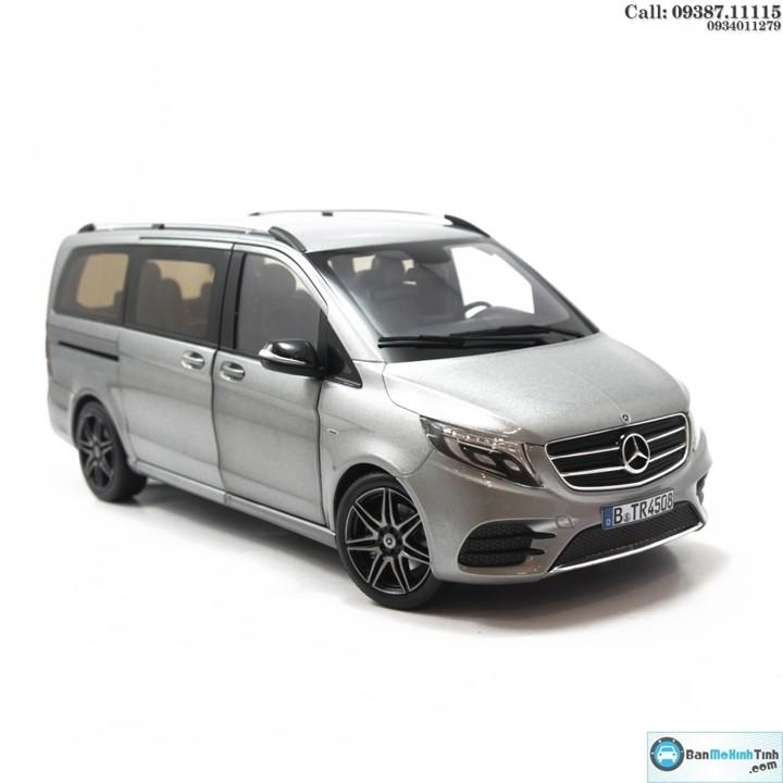Mô hình xe ô tô MERCEDES V 260L MPV SILVER 1:18 NOREV