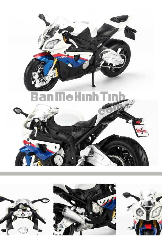 Mô hình mô tô BMW S1000RR White 1:12 Maisto MH-31101-2
