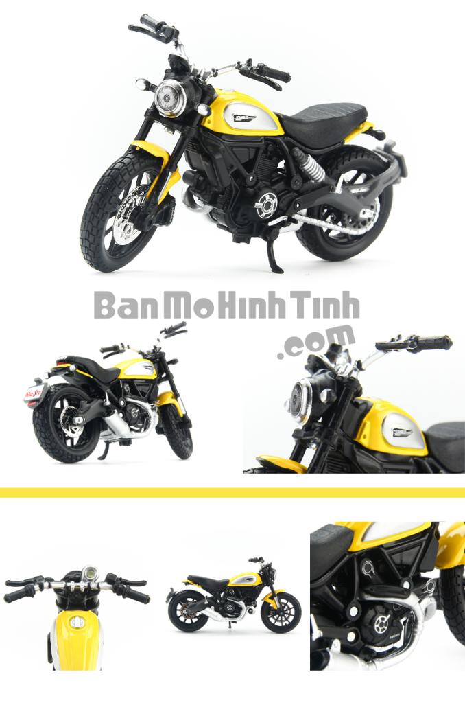 mô hình xe moto ducati scrambler yellow 1:18 maisto
