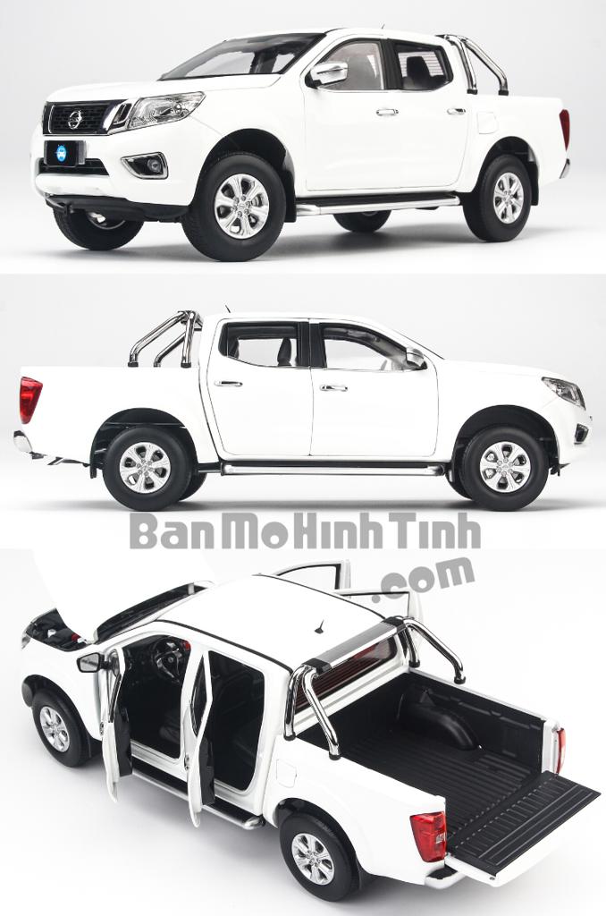 Mô hình xe bán tải Nissan Navara White 1:18 Dealer