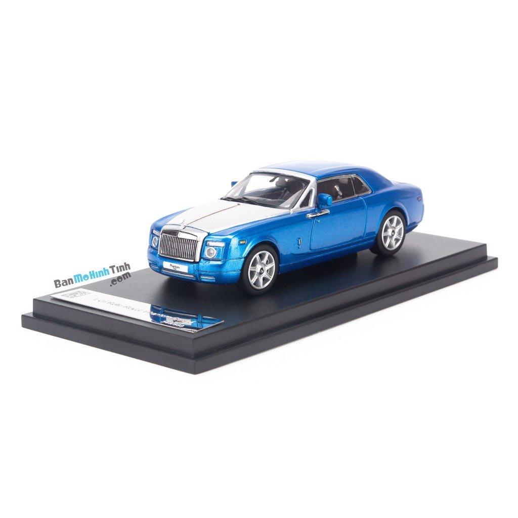 Mô hình xe sang Rolls Royce Phantom Coupe 1:64 Limited Blue