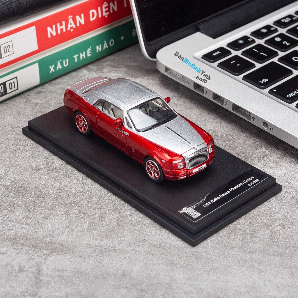 Mô hình xe Rolls Royce Phantom Coupe 1:64 Limited Red Silver