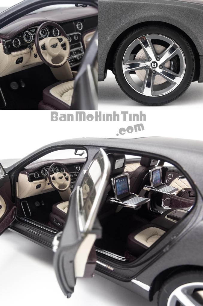 Mô hình xe sang Bentley Mulsanne Speed 1:18 Kyosho Matte Black