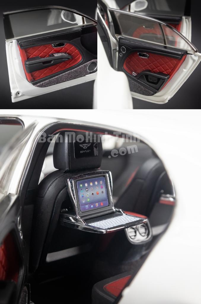 Mô hình xe sang Bentley Mulsanne Speed 1:18 Kyosho White