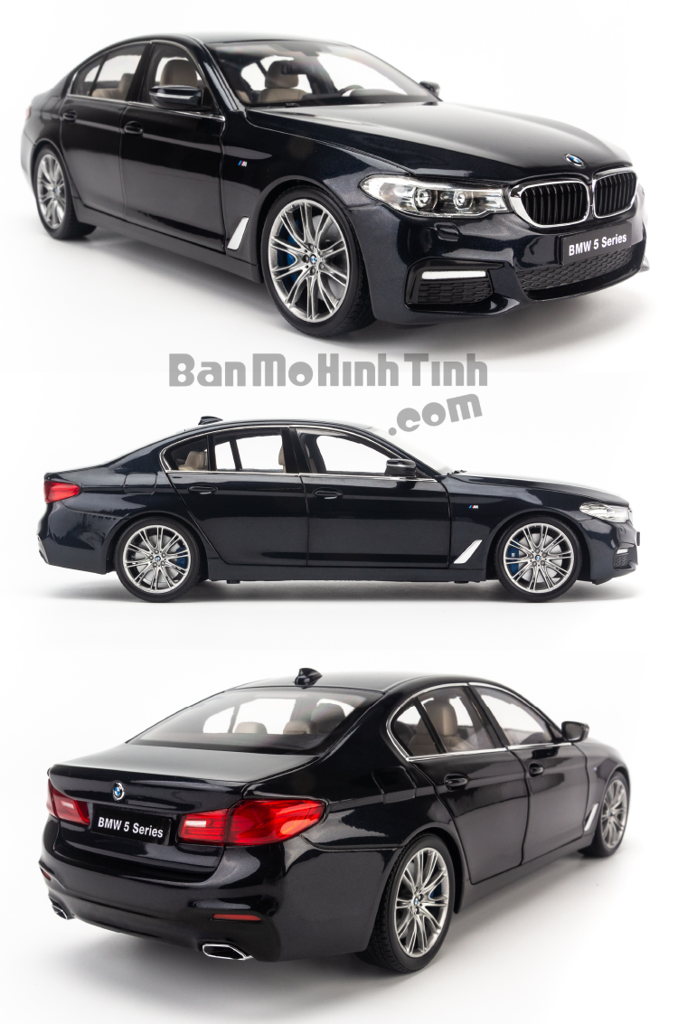 Mô hình xe sang BMW 5 Series 2019 1:18 Kyosho Black