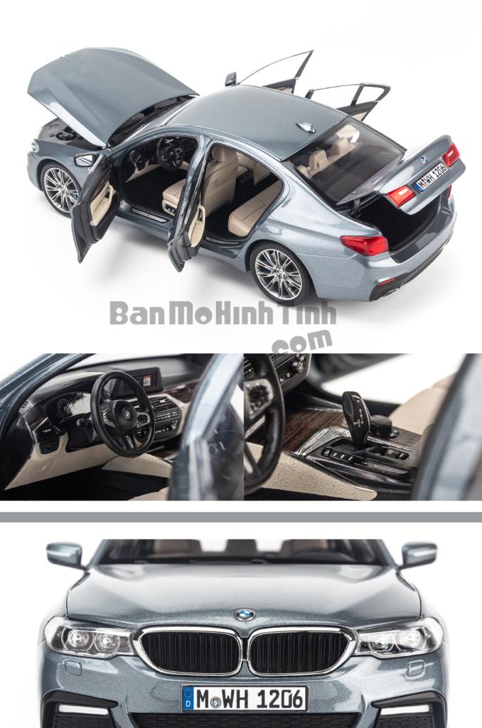 Mô hình xe sang BMW 5 Series 2019 1:18 Kyosho Grey