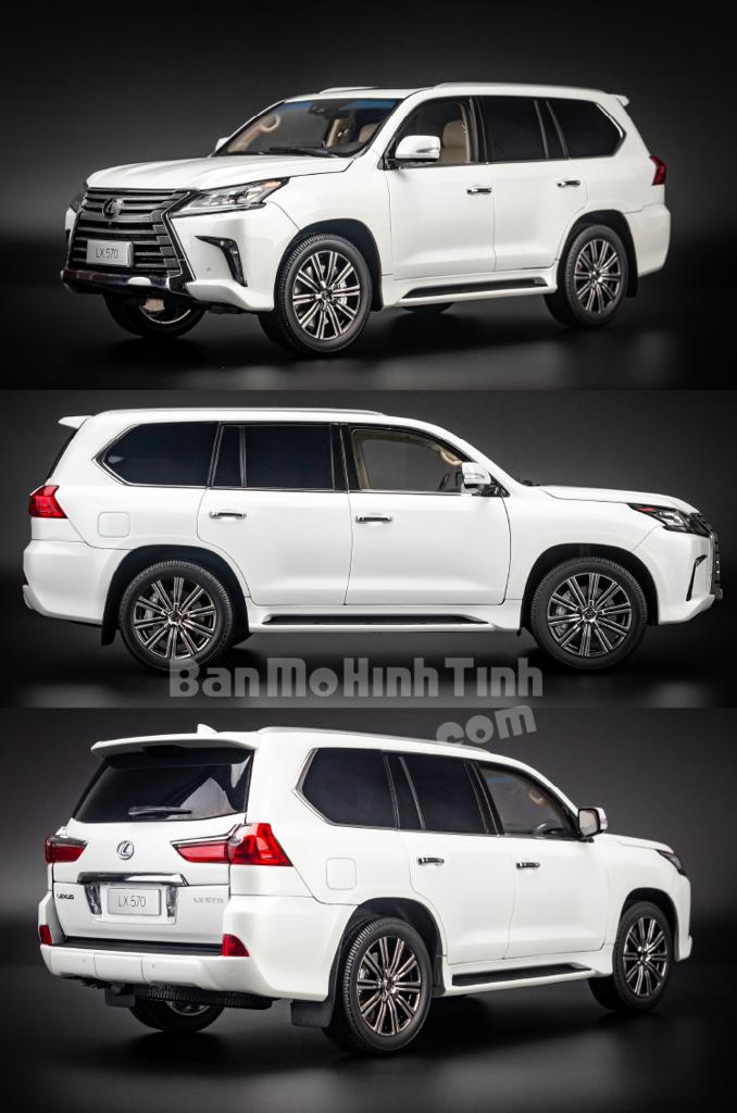 Mô hình xe suv Lexus LX570 1:18 Kyosho White