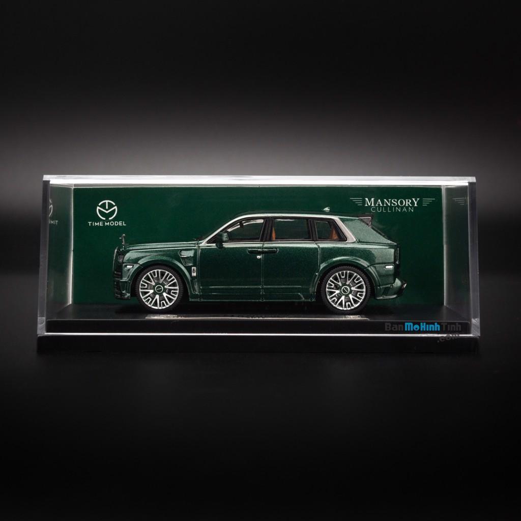 Mô hình xe Rolls Royce Mansory Cullinan 1:64 Time Model Green