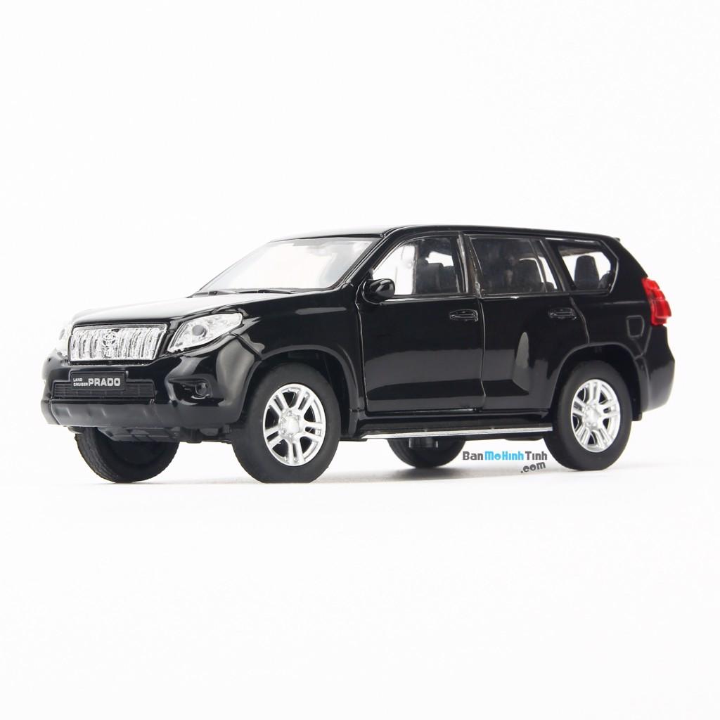 Mô hình xe suv Toyota Land Cruiser Prado 1:36 Welly Black