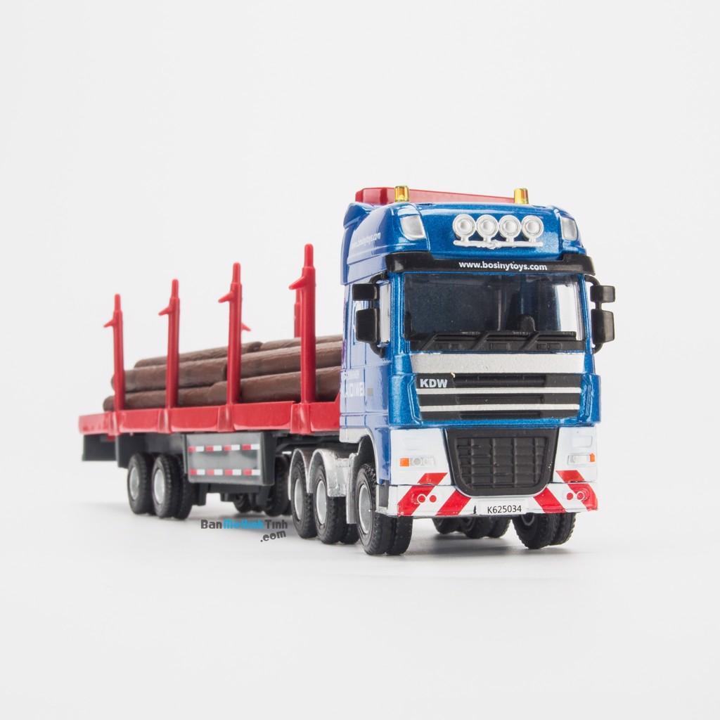 Mô hình xe Tải chở gỗ 1:50 KDW