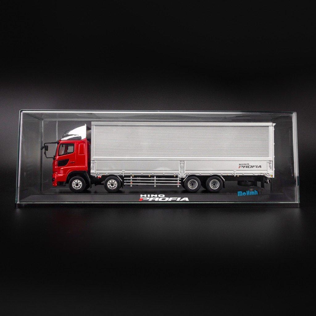 Mô hình xe tải Hino truck 1:50 Dealer Red