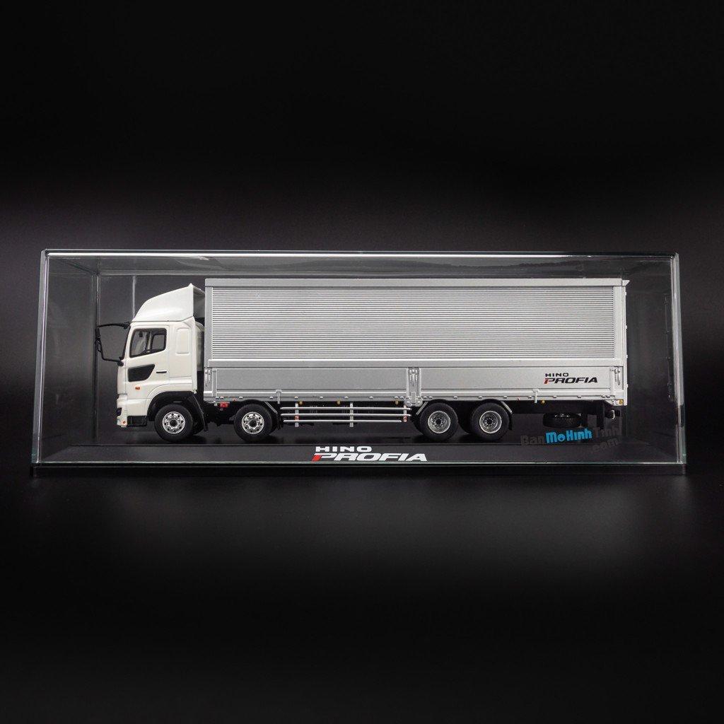 Mô hình xe tải Hino truck 1:50 Dealer White