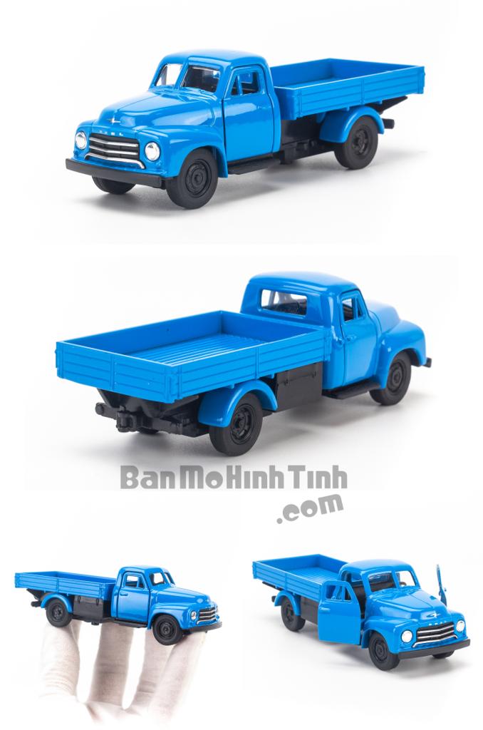 Mô hình xe tải Open Blitz 1:36 Welly Blue Thùng Lửng