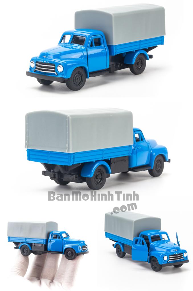 Mô hình xe tải Open Blitz 1:36 Welly Blue Thùng Mui Bạt
