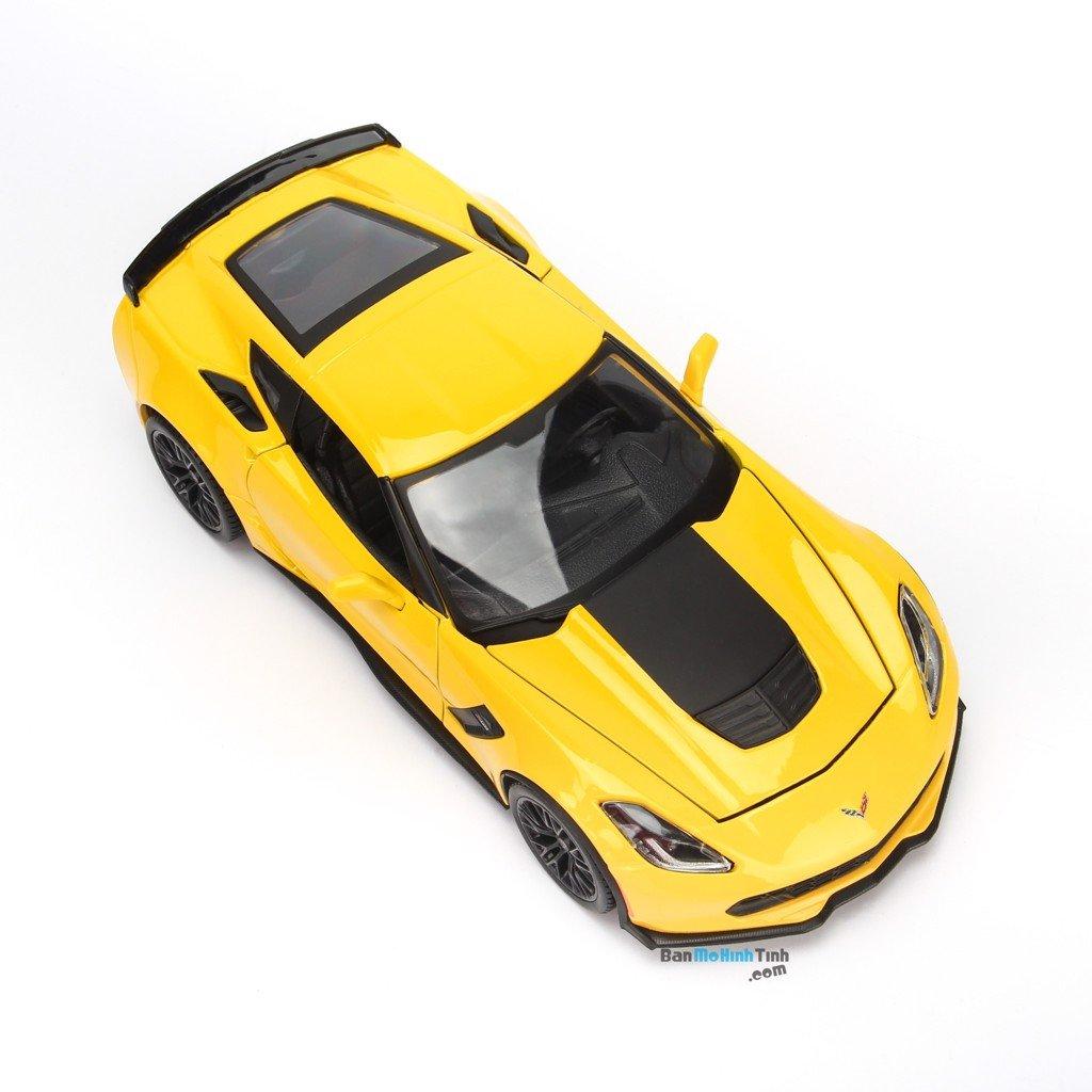 Mô hình xe thể thao Corvette Z06 1:24 Maisto Yellow
