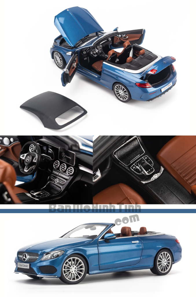 Mô hình xe thể thao Mercedes-Benz C250 Cabriolet 1:18 Iscale Blue