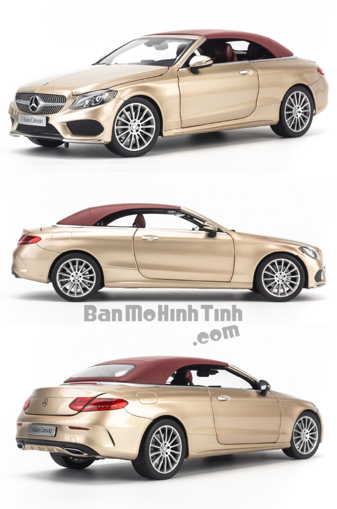 Mô hình xe thể thao Mercedes-Benz C250 Cabriolet 1:18 Iscale Gold