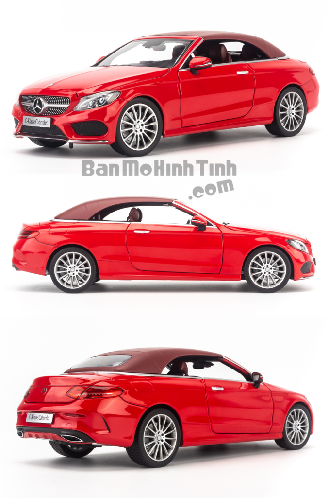 Mô hình xe thể thao Mercedes-Benz C250 Cabriolet 1:18 Iscale Red