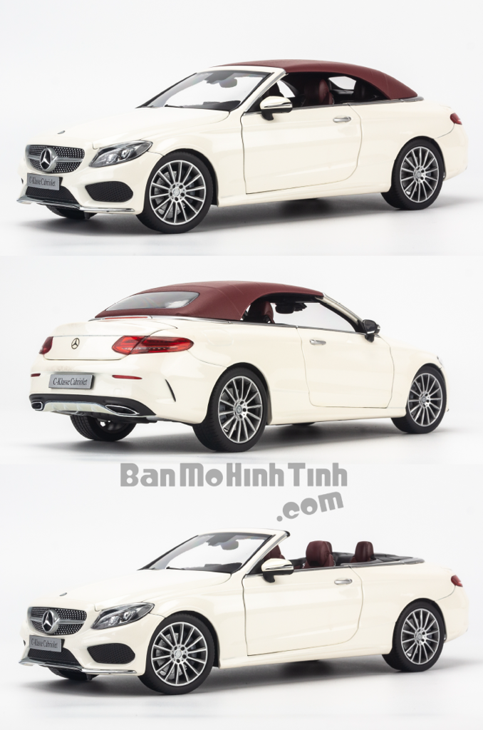 Mô hình xe thể thao Mercedes-Benz C250 Cabriolet 1:18 Iscale White