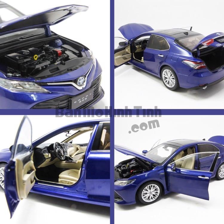 Mô hình xe Toyota Camry 2018 - 2019 Blue 1:18 Paudi